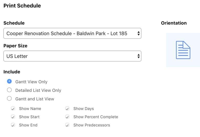 print-schedule